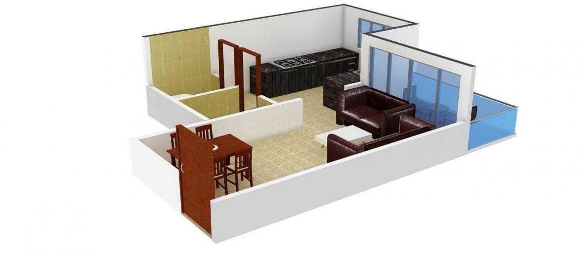 Floor Plan Image of 350.0 - 750.0 Sq.ft 1 RK Apartment for buy in Nerepada Apartment