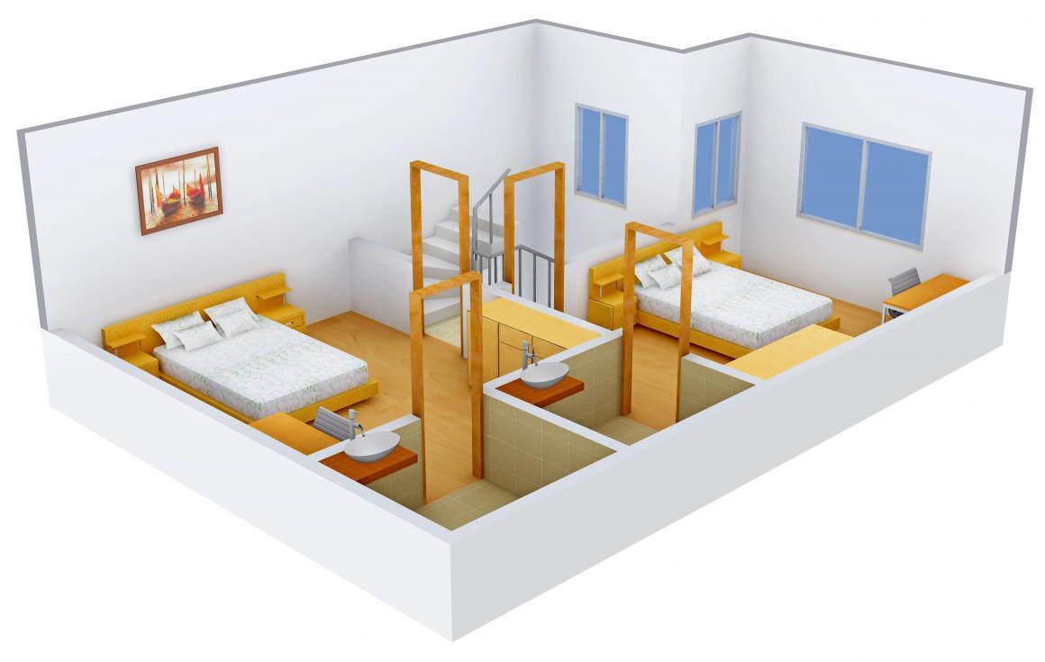 Shree Radha Jaldeep Entice Floor Plan: 3 BHK Unit with Built up area of 2160 sq.ft 3