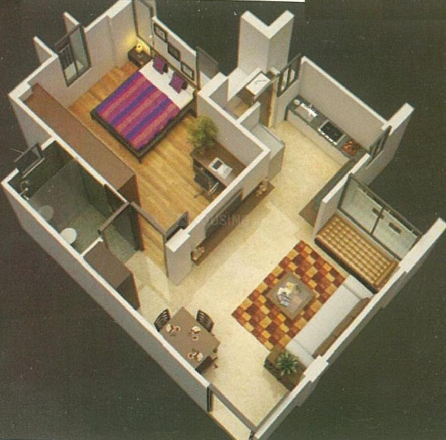 Build Art Aarna Fortune Floor Plan: 1 BHK Unit with Built up area of 420 sq.ft 1