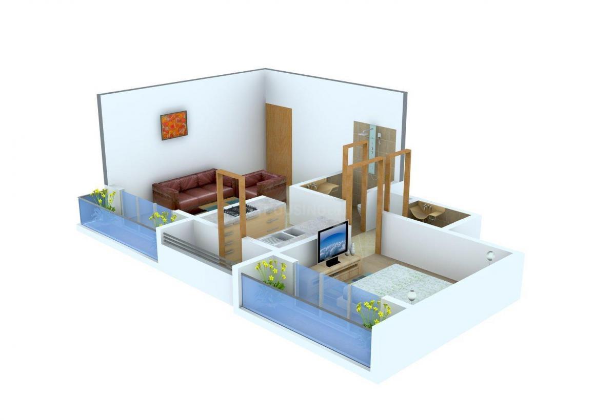 Floor Plan Image of 490 - 930 Sq.ft 1 BHK Apartment for buy in Pooja Pride
