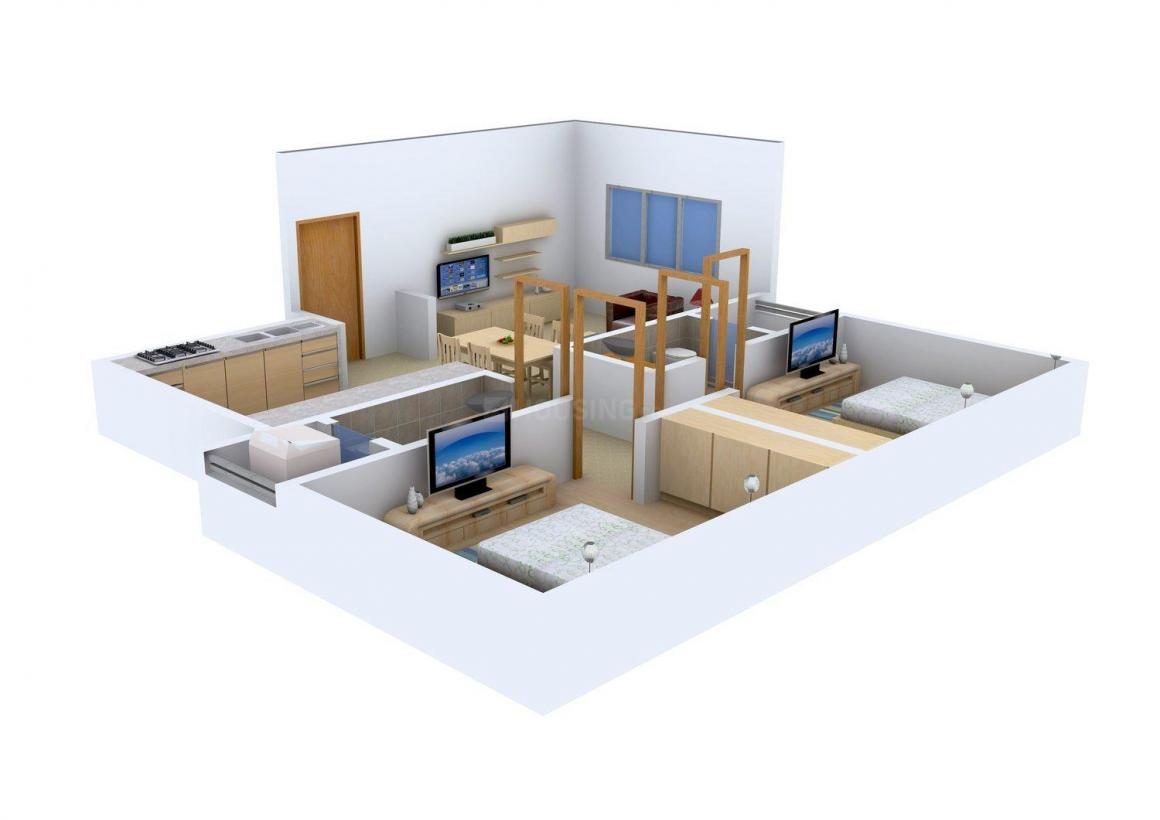 Floor Plan Image of 0 - 558.0 Sq.ft 2 BHK Apartment for buy in Modispaces Ankur