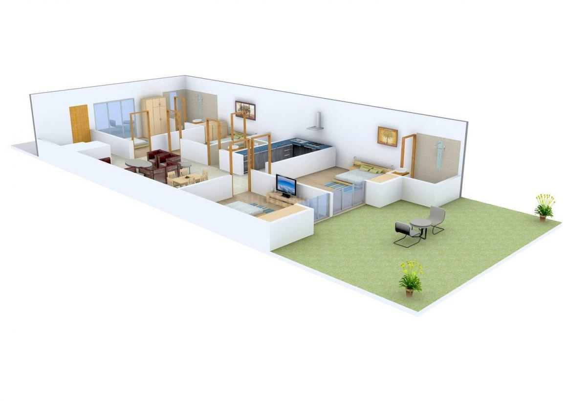 Aracely Valmax Homes 2 Floor Plan: 4 BHK Unit with Built up area of 1613 sq.ft 1
