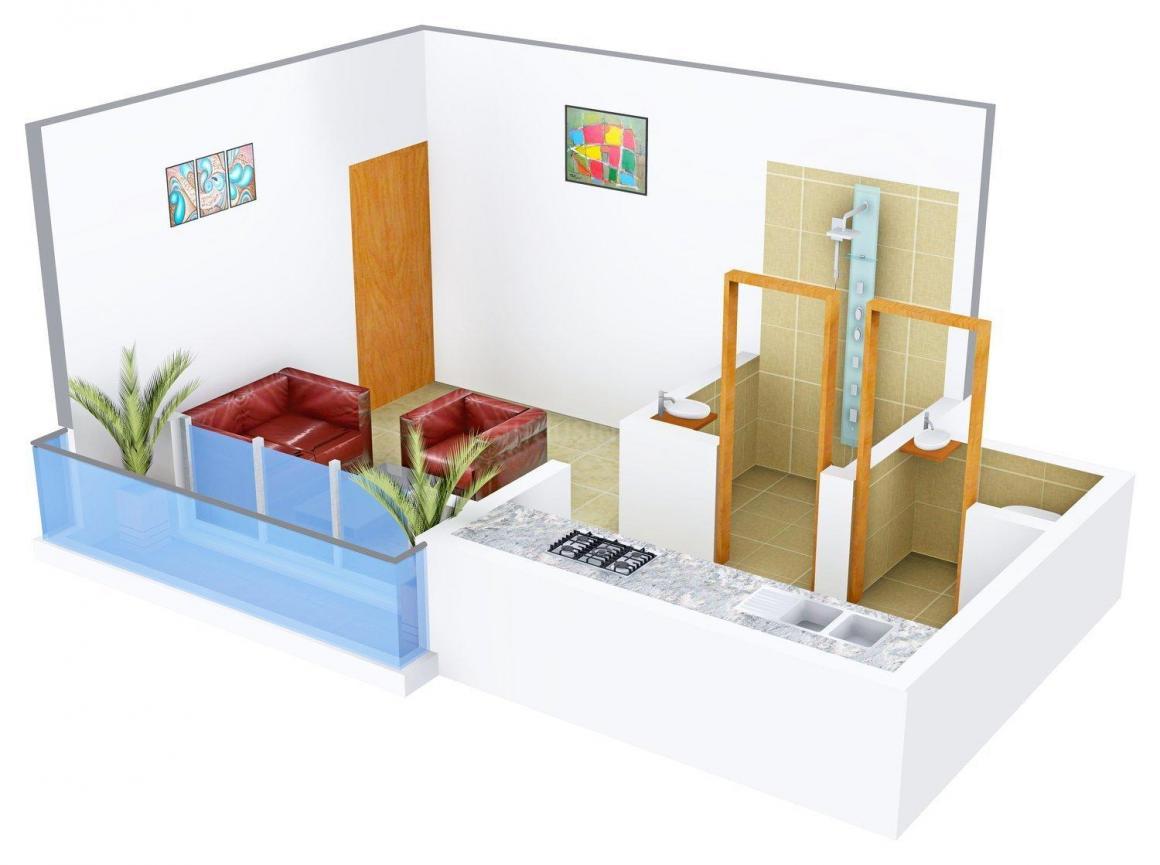 Floor Plan Image of 259.0 - 367.0 Sq.ft 1 RK Apartment for buy in Sai Aishwarya