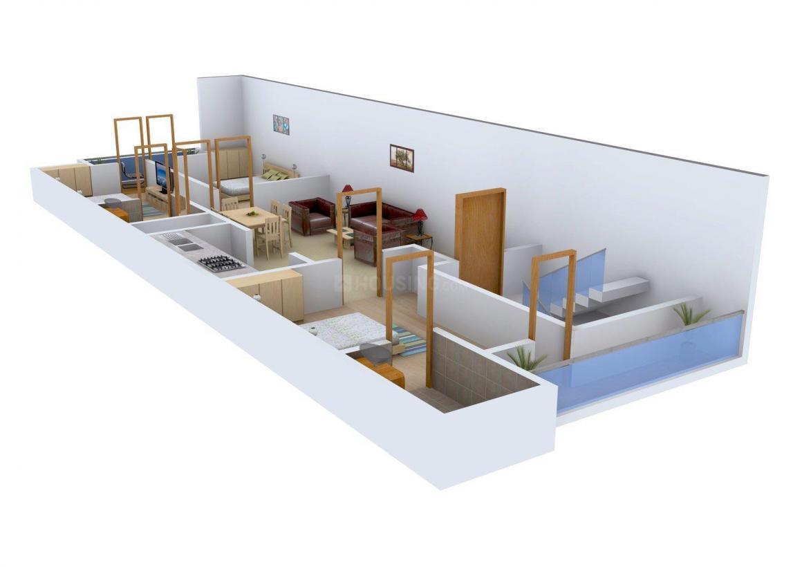 Floor Plan Image of 0 - 1125.0 Sq.ft 3 BHK Apartment for buy in Konark Easy Home 2