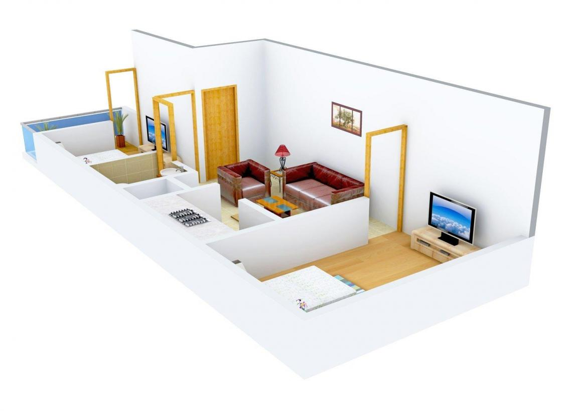 Earth EBP Floor - 2 Floor Plan: 2 BHK Unit with Built up area of 540 sq.ft 1