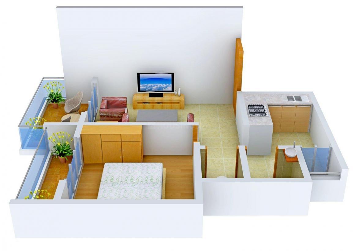 Floor Plan Image of 460 - 650 Sq.ft 1 RK Apartment for buy in Trikon Residency
