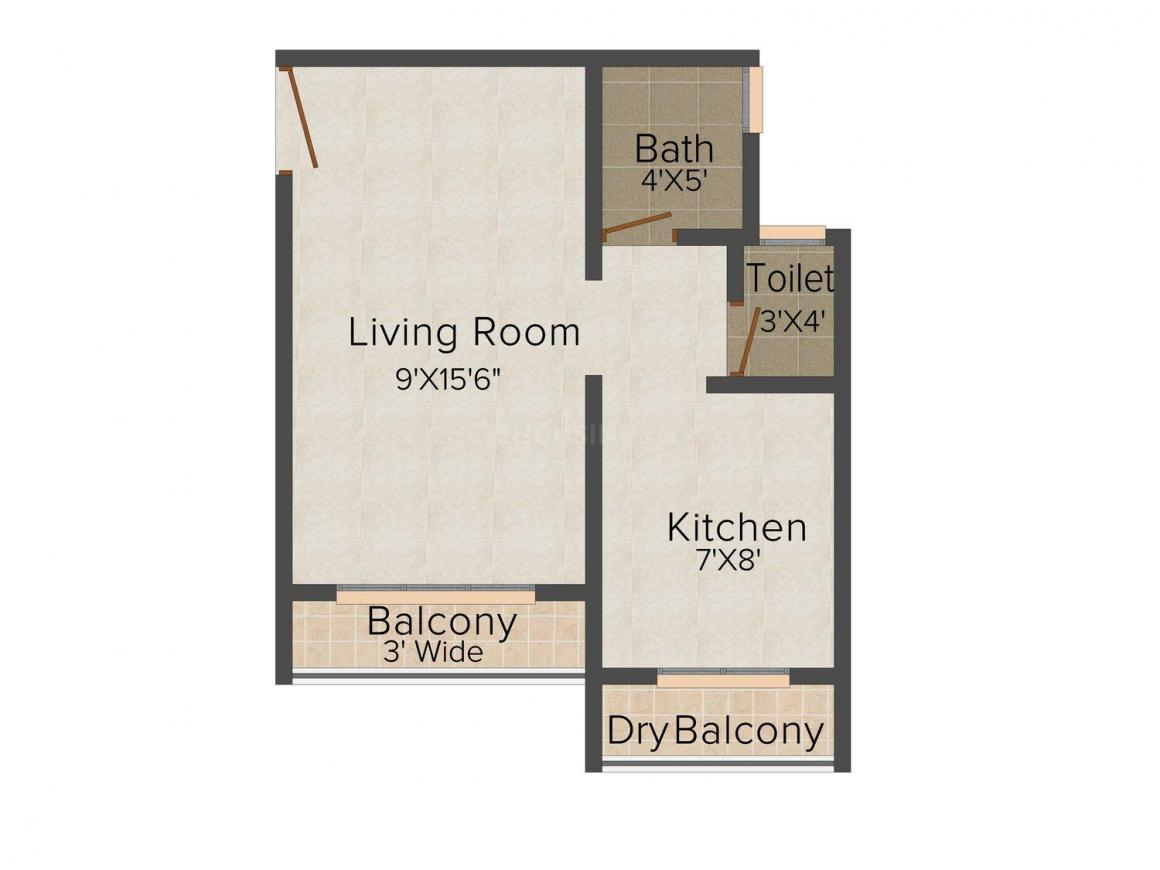 Floor Plan Image of 450.0 - 785.0 Sq.ft 1 RK Apartment for buy in Jayshree Yashvant Srushti
