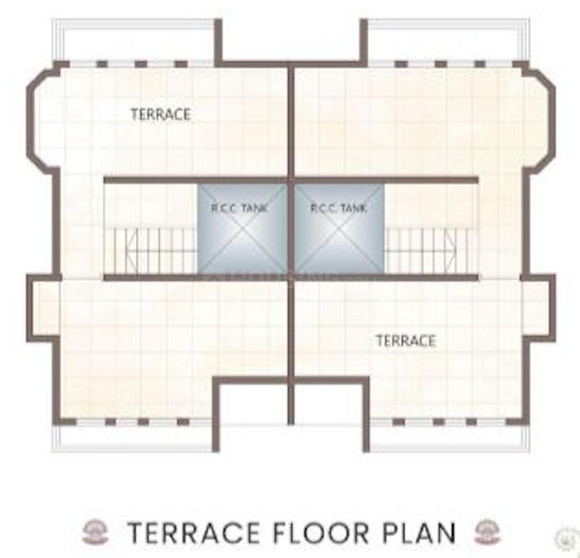 Ekveera Shimmer Ocean Pearl Floor Plan: 2 BHK Unit with Built up area of 1380 sq.ft 3