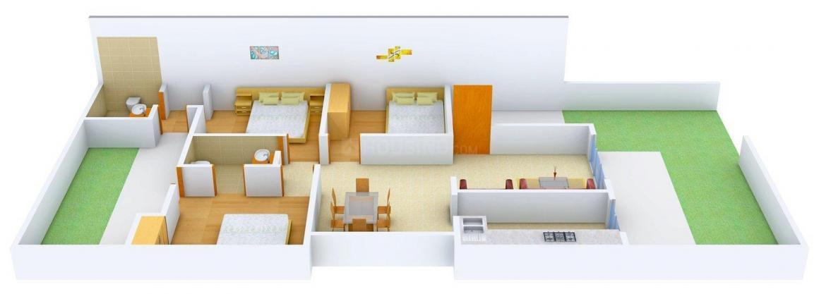 Floor Plan Image of 0 - 1260 Sq.ft 3 BHK Independent Floor for buy in Ahuja Floors - 2