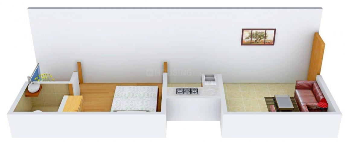 Floor Plan Image of 0 - 450.0 Sq.ft 1 BHK Apartment for buy in Big Growth BGI - 1