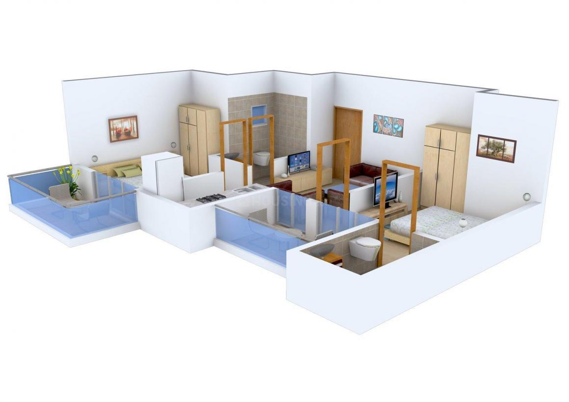 Floor Plan Image of 530 - 975 Sq.ft 1 BHK Apartment for buy in AKVS Surya Heights