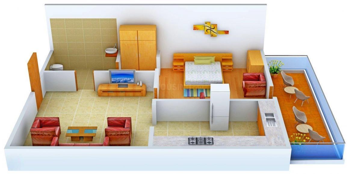 Floor Plan Image of 0 - 700 Sq.ft 1 BHK Apartment for buy in Aananda