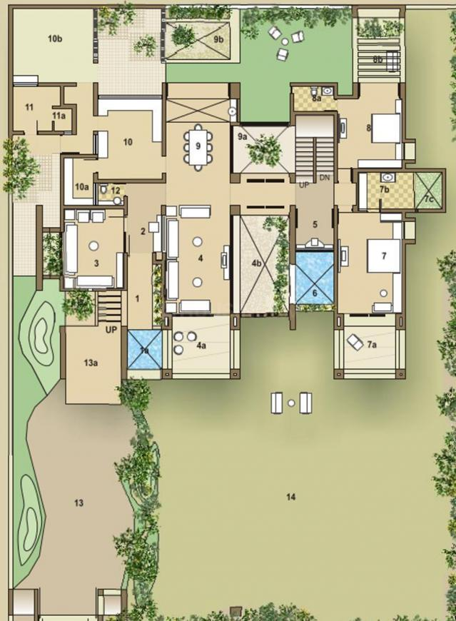 Goyal Riviera Greens Floor Plan: 5 BHK Unit with Built up area of 5400 sq.ft 2