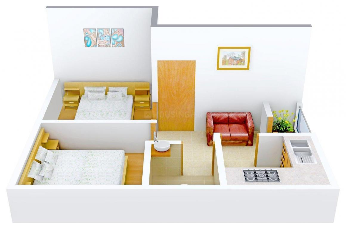 Floor Plan Image of 0 - 544.0 Sq.ft 2 BHK Apartment for buy in Biswas Jeet Sansar Ph IV