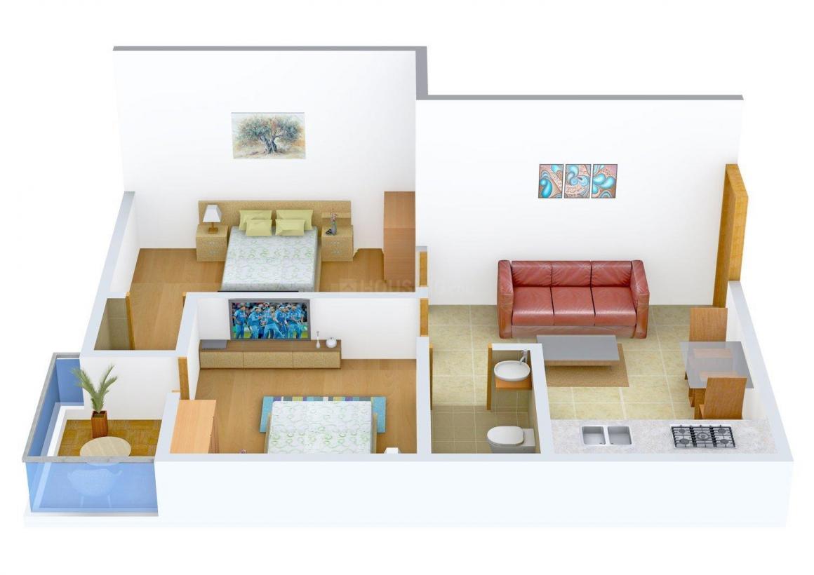 Floor Plan Image of 755.0 - 1175.0 Sq.ft 2 BHK Apartment for buy in Navadisha