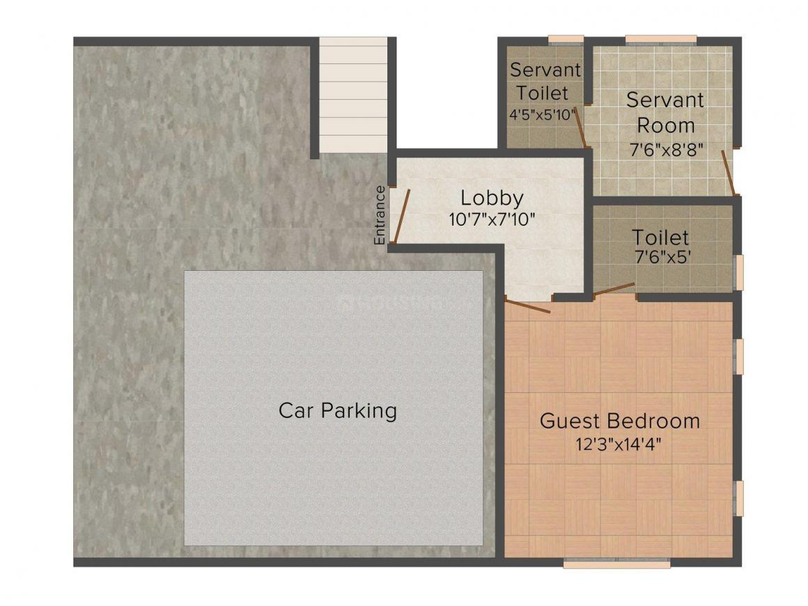 Arham Felicia Floor Plan: 4 BHK Unit with Built up area of 3252 sq.ft 1