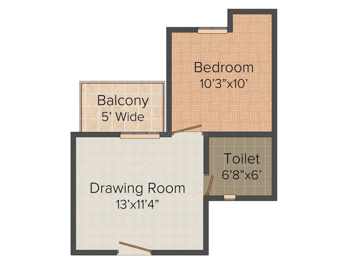 Floor Plan Image of 590.0 - 810.0 Sq.ft 1 BHK Apartment for buy in RS Regency