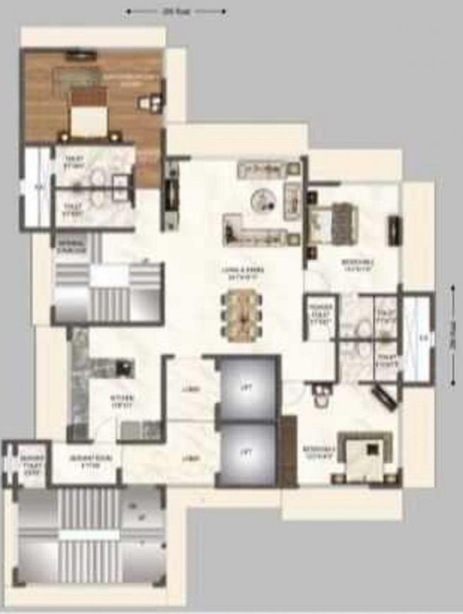 Niraj Naik Kakad Niwas Floor Plan: 4 BHK Unit with Built up area of 1474 sq.ft 2