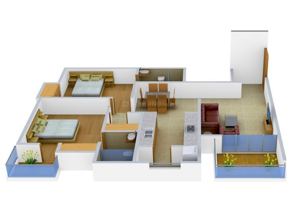 Floor Plan Image of 1386.0 - 1701.0 Sq.ft 2 BHK Apartment for buy in Shakun Marvel
