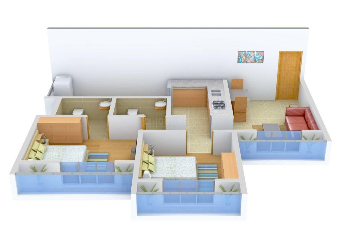 Floor Plan Image of 0 - 900.0 Sq.ft 2 BHK Apartment for buy in Prasad