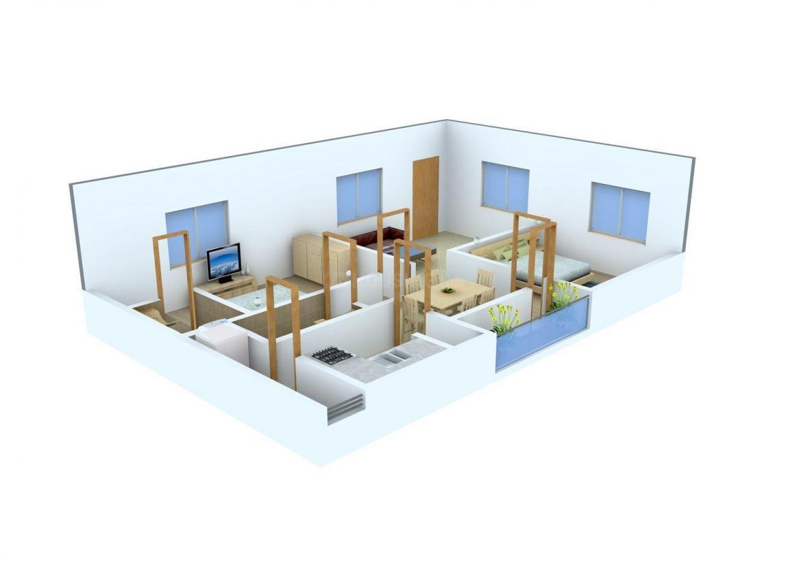 Floor Plan Image of 1000.0 - 1505.0 Sq.ft 2 BHK Apartment for buy in Sri Venkata Sai Heights