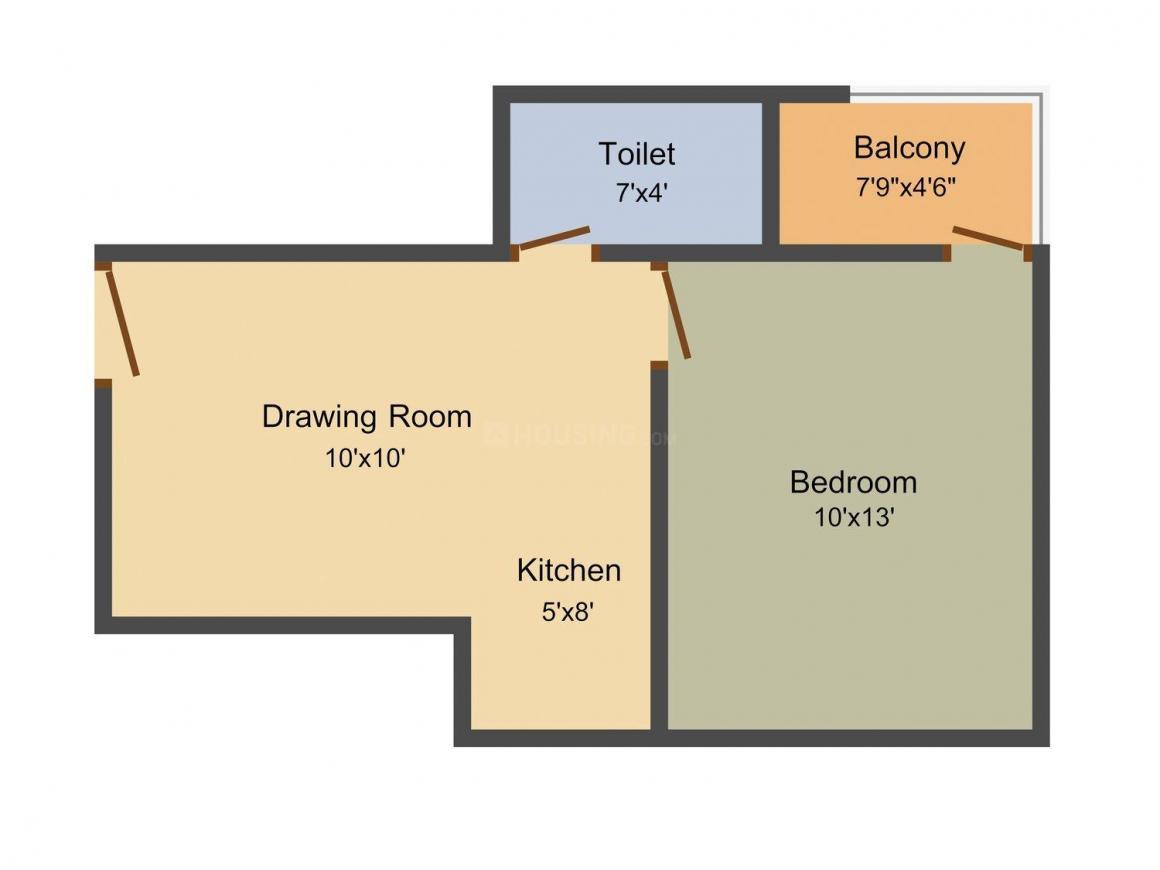 Radhika Rajkiya Karamchari Awasi Yogna Floor Plan: 1 BHK Unit with Built up area of 470 sq.ft 1