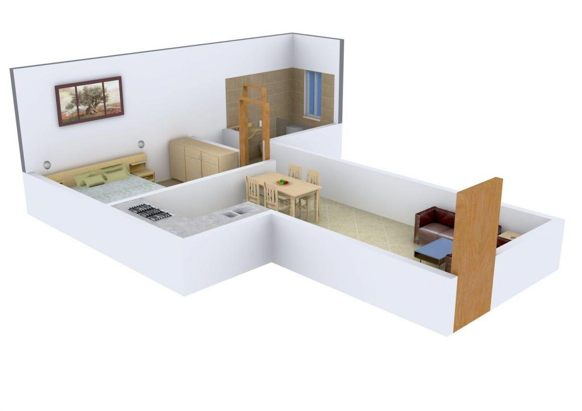 Floor Plan Image of 410.0 - 809.0 Sq.ft 1 BHK Apartment for buy in Paranjape Pratham