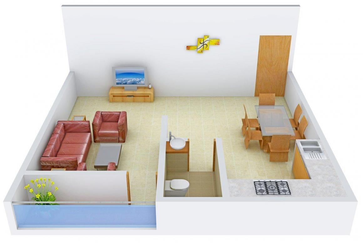 Floor Plan Image of 425.0 - 935.0 Sq.ft 1 RK Apartment for buy in Lokenath Amritalal Apartment