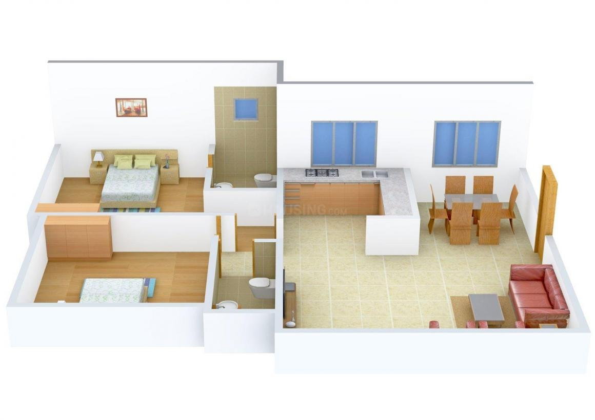 Floor Plan Image of 0 - 1200 Sq.ft 2 BHK Apartment for buy in Darshan Heritage