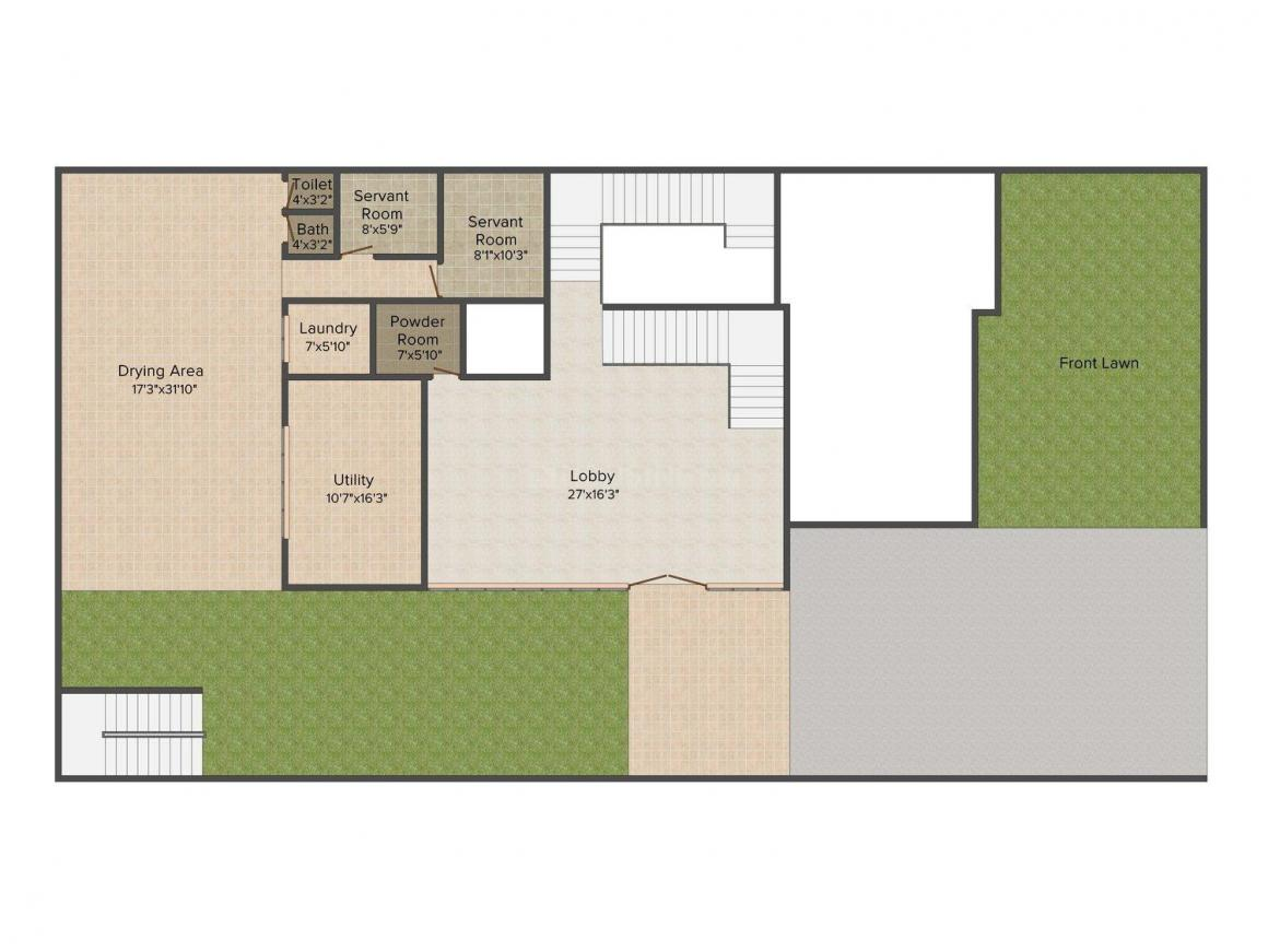 Jain Villa - 12 Floor Plan: 5 BHK Unit with Built up area of 4500 sq.ft 1