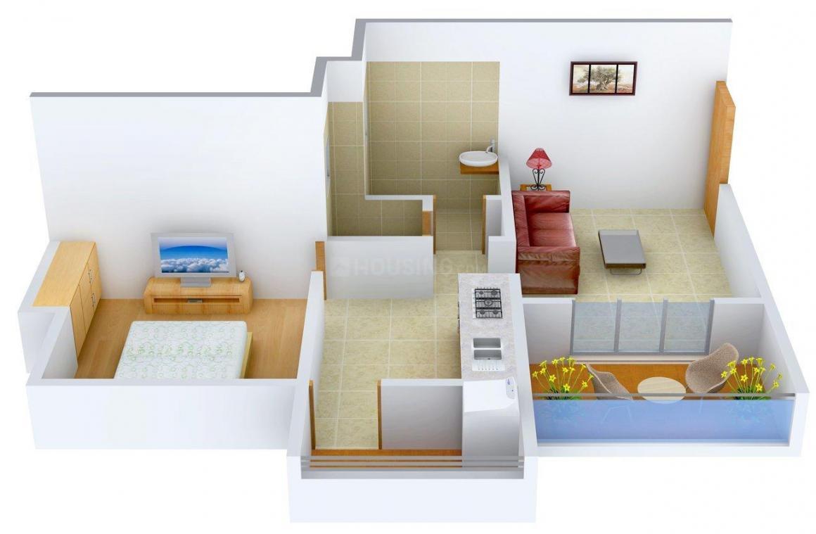 Venkatesh Joynest Floor Plan: 1 BHK Unit with Built up area of 497 sq.ft 1