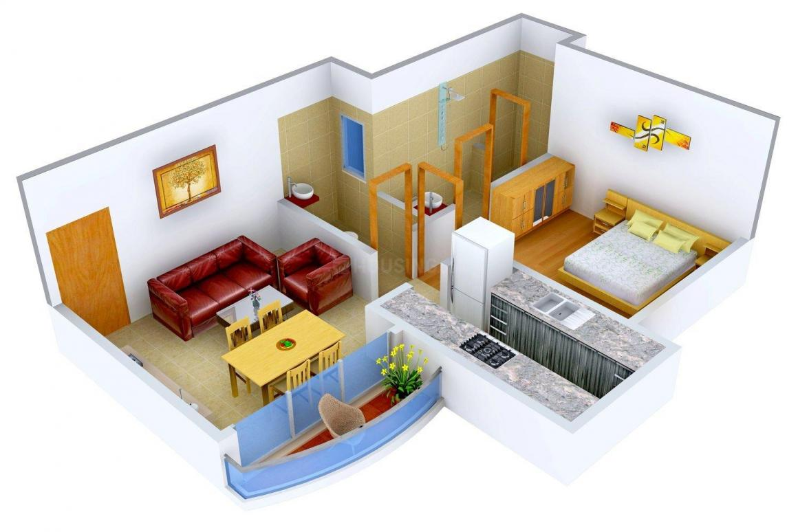 Floor Plan Image of 750 - 1530 Sq.ft 1 BHK Apartment for buy in Universal Cubical
