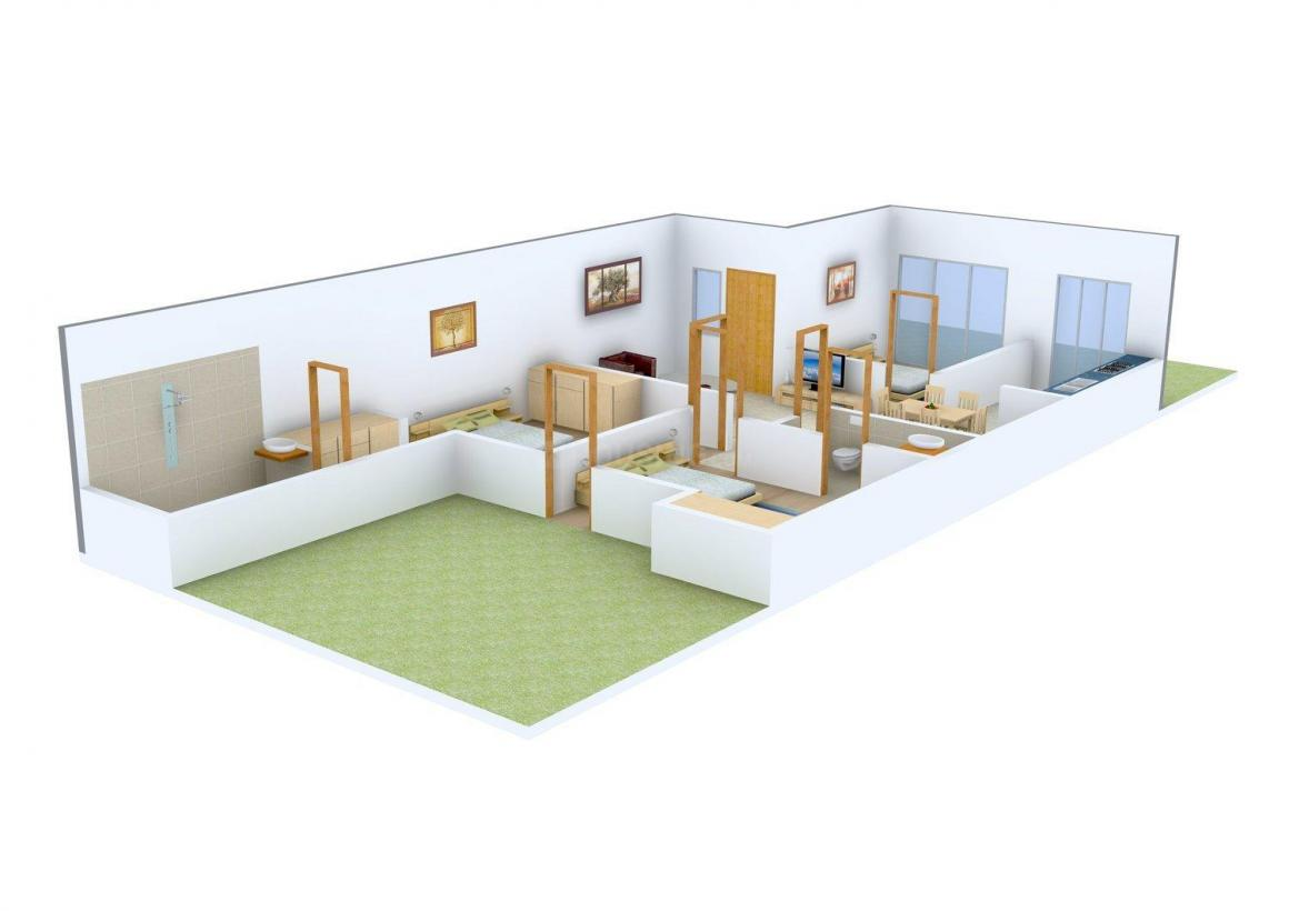 Floor Plan Image of 0 - 1070.0 Sq.ft 3 BHK Independent Floor for buy in Sharma Homes - 1