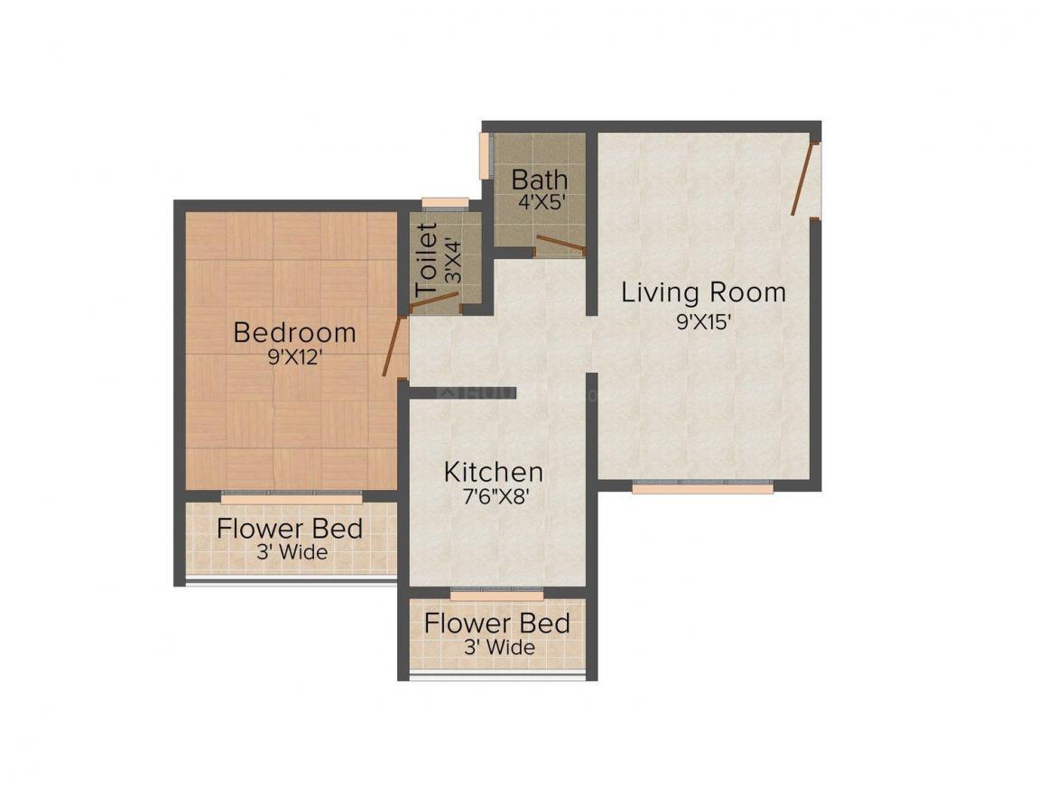 Floor Plan Image of 385.0 - 930.0 Sq.ft 1 BHK Apartment for buy in Hitesh Parasiya Complex