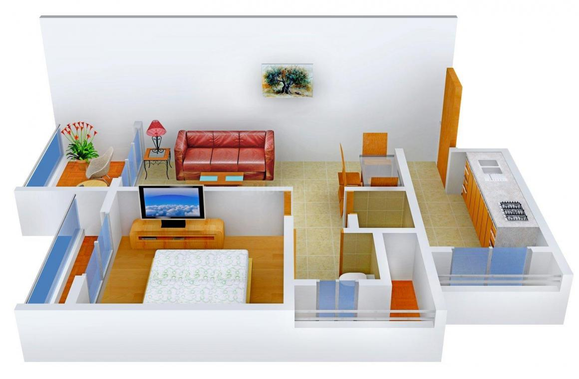 Floor Plan Image of 685.0 - 1150.0 Sq.ft 1 BHK Apartment for buy in VM Mohan Pride