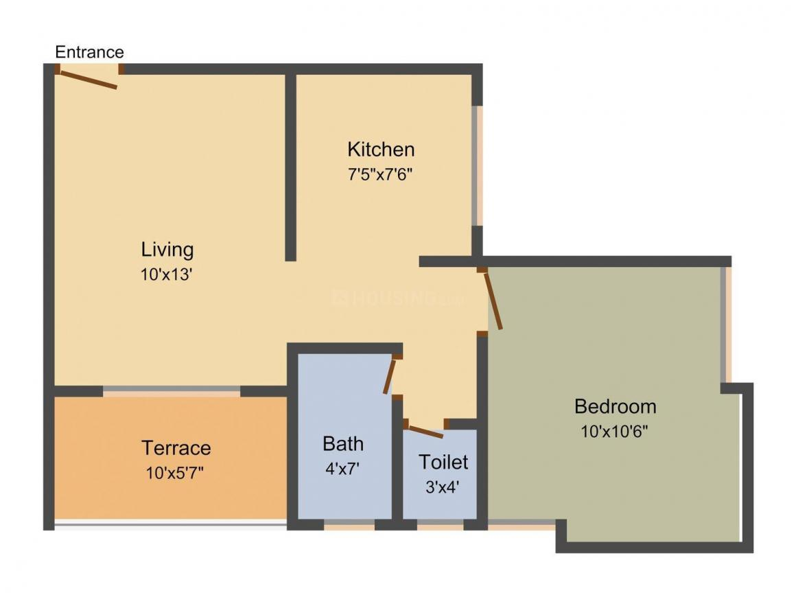Floor Plan Image of 278 - 1096 Sq.ft Studio Studio Apartment for buy in Reelicon Revanta