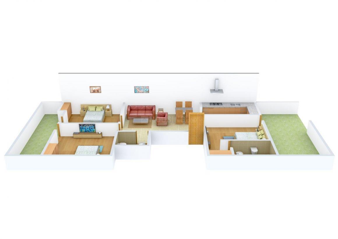Floor Plan Image of 0 - 1179.0 Sq.ft 3 BHK Independent Floor for buy in Sagar Floors 2348 Sainik Colony