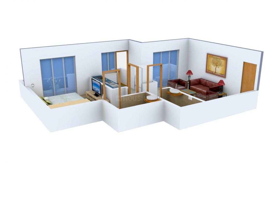 Floor Plan Image of 585 - 744 Sq.ft 1 BHK Apartment for buy in Amar Vinayraj Regency