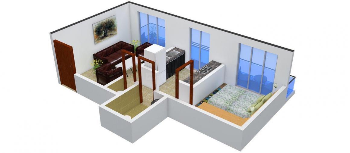 Floor Plan Image of 0 - 425.0 Sq.ft 1 BHK Apartment for buy in Jyoti Gauri Janaki