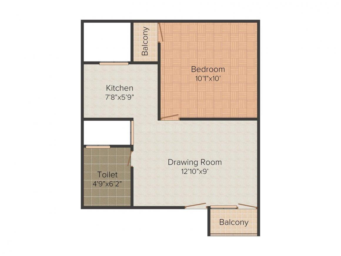 Floor Plan Image of 0 - 450 Sq.ft 1 BHK Independent Floor for buy in Maa Katyayani Katyayani Home- 2