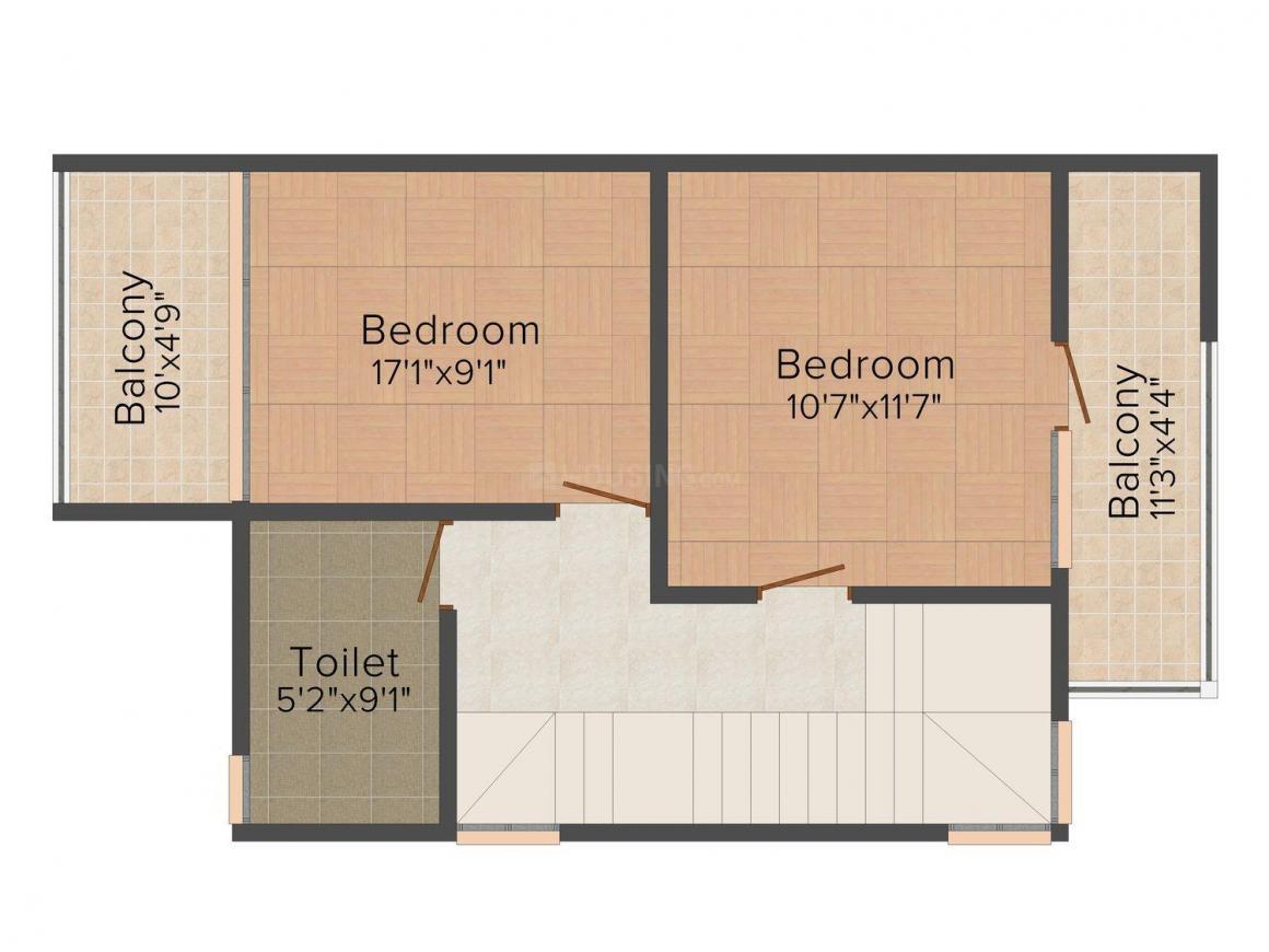 Floor Plan Image of 0 - 2056.0 Sq.ft 4 BHK Villa for buy in Julie D'Costa The Blooms