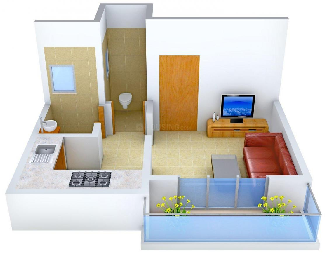 Floor Plan Image of 225.0 - 496.0 Sq.ft 1 RK Apartment for buy in Maa Vaishnodevi Aashiyana