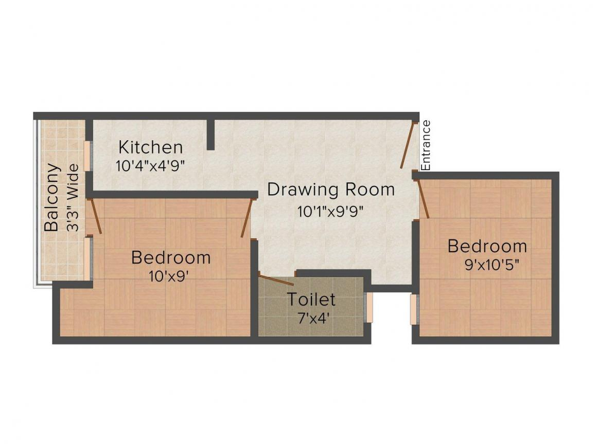 Floor Plan Image of 0 - 450 Sq.ft 2 BHK Independent Floor for buy in Tayal Floors - I