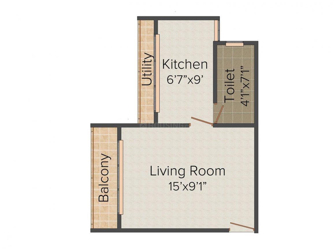 Floor Plan Image of 450.0 - 770.0 Sq.ft 1 RK Apartment for buy in Padmavati Roza Bela