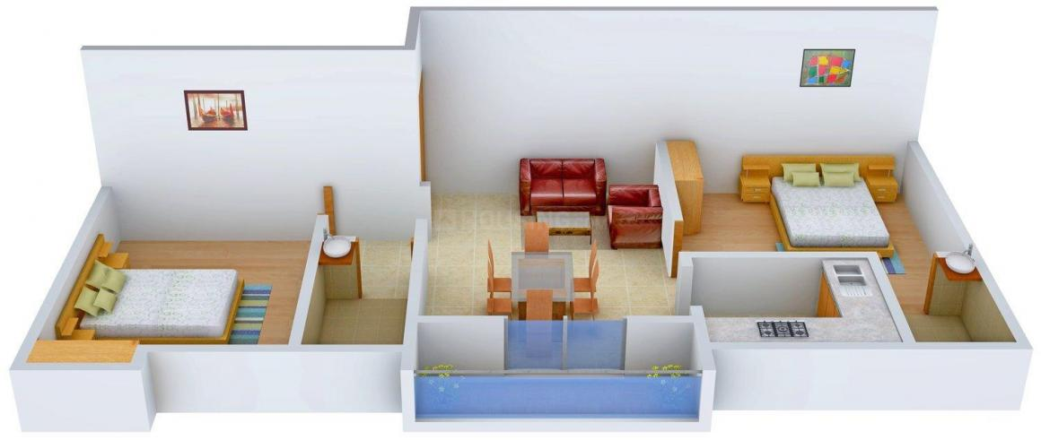 Floor Plan Image of 839.0 - 949.0 Sq.ft 2 BHK Apartment for buy in Jayalakshmi