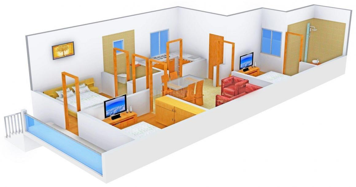 Floor Plan Image of 0 - 1100.0 Sq.ft 3 BHK Independent Floor for buy in Suvidha Builder Floors 2