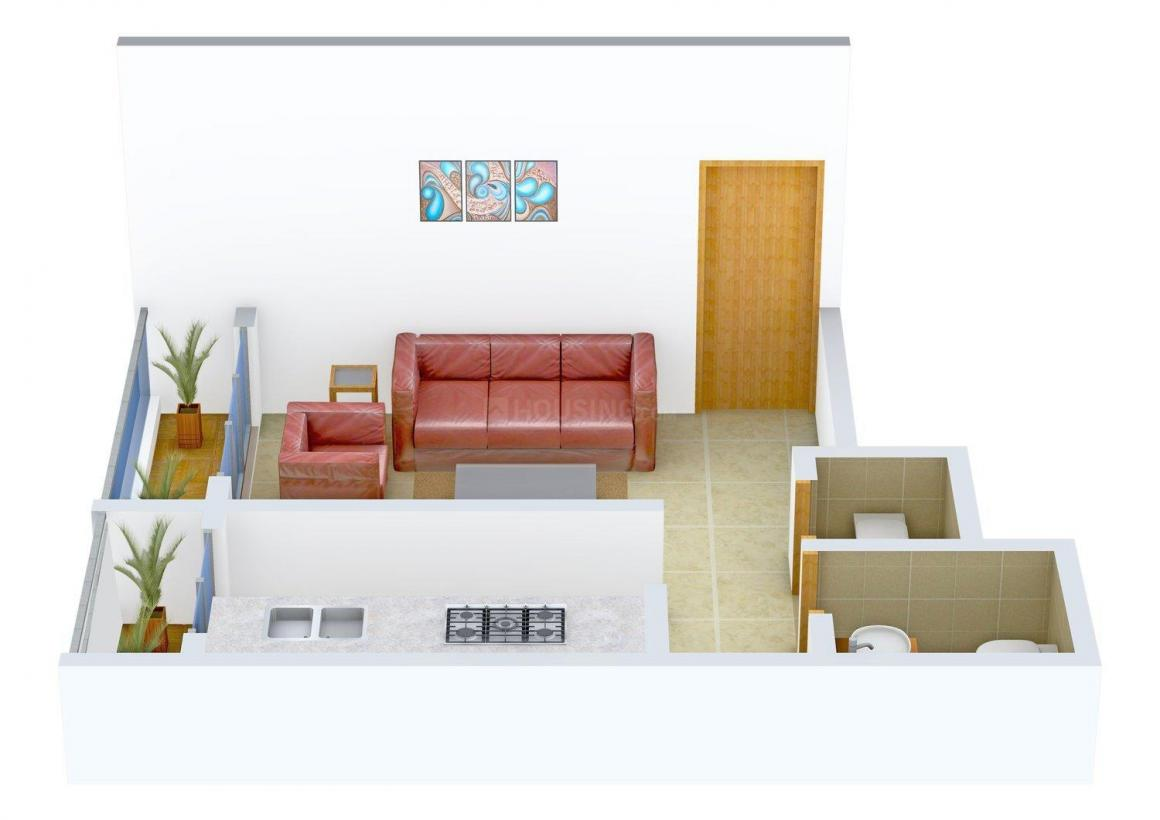 Floor Plan Image of 395 - 605 Sq.ft 1 RK Apartment for buy in Sughadh Vishesh Home