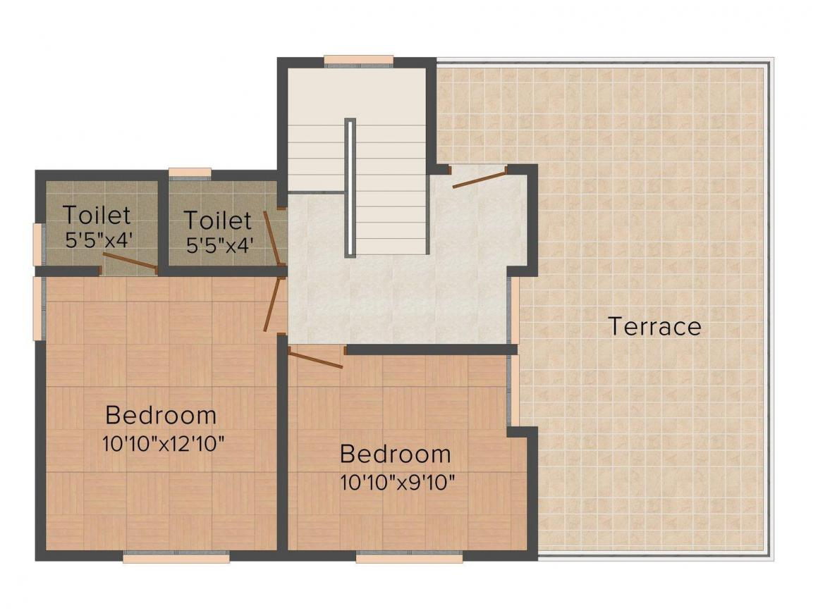 Floor Plan Image of 1250.0 - 1600.0 Sq.ft 3 BHK Villa for buy in Chothy's Royal View