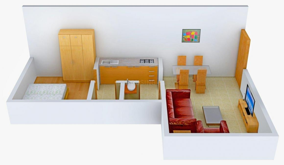 Square Arch Infra Square Garden Building II Floor Plan: 1 BHK Unit with Built up area of 480 sq.ft 2
