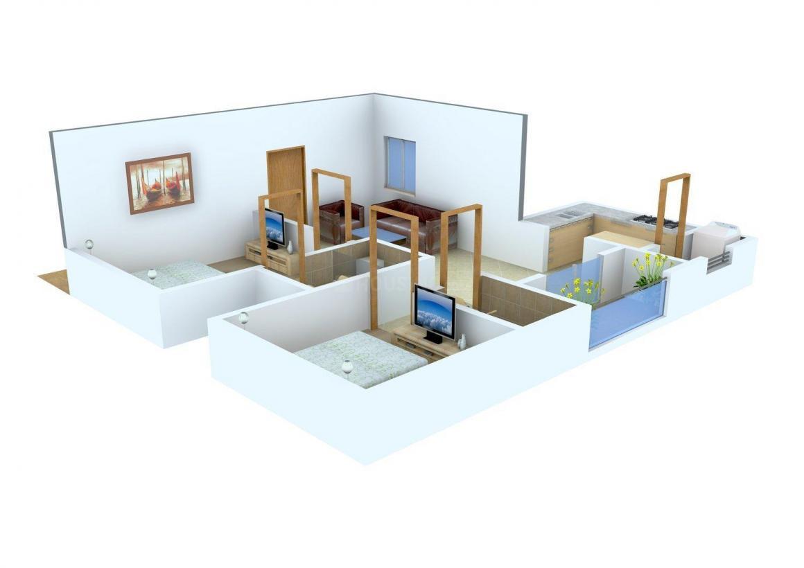 Floor Plan Image of 852.0 - 1168.0 Sq.ft 2 BHK Apartment for buy in Rajparis Sarovar
